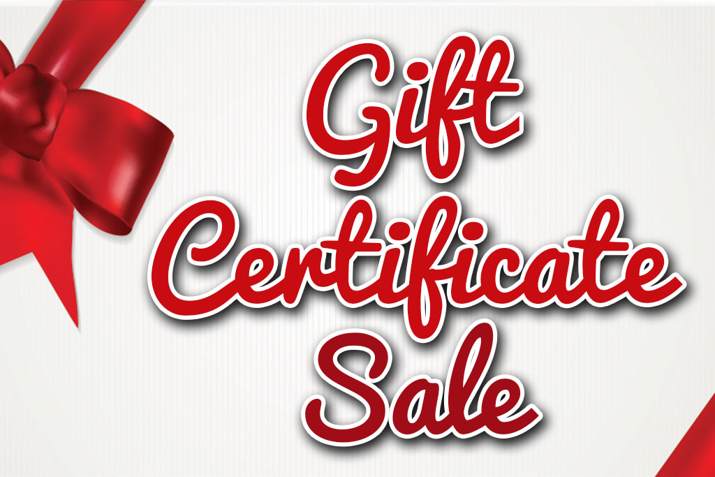 Holiday Gift Certificate Sale - Jacksonville Beach