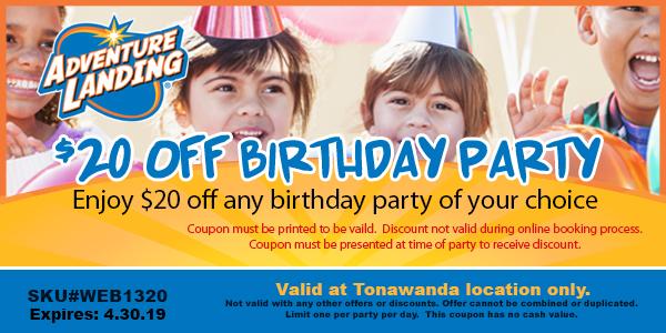 birthday parties adventure landing family entertainment center